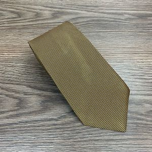 Brooks Brothers Gold & Black Check Tie